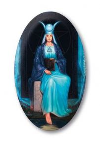 Silver Witchcraft High Priestess Crystal Magnet